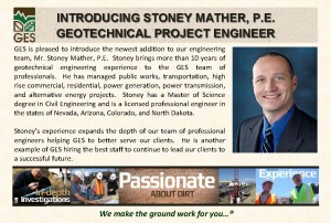 Stoney Mather, PE, Project Engineer - GES